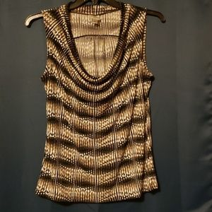 Cowl neck work top